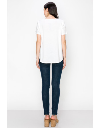 SOLID Q-BLEND SWING TEE - OFF WHITE