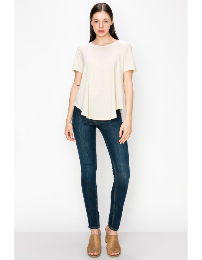 SOLID Q-BLEND SWING TEE - SAND