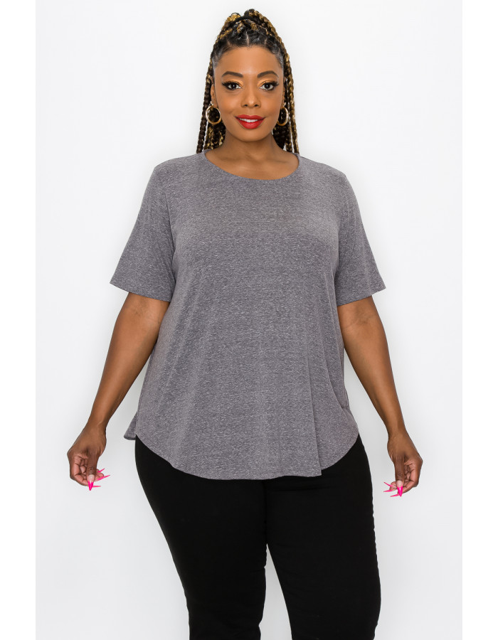 SOLID Q-BLEND SWING TEE CURVE - CHARCOAL