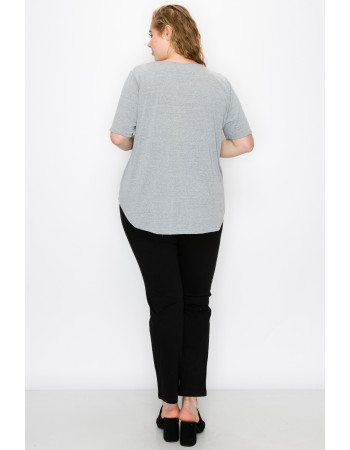SOLID Q-BLEND SWING TEE CURVE - H.GREY