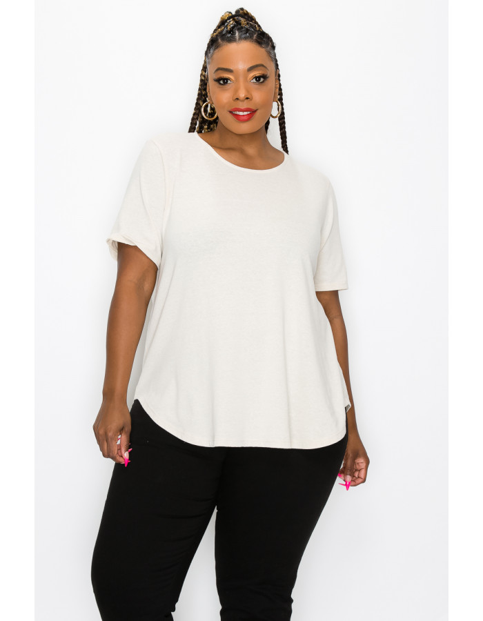 SOLID Q-BLEND SWING TEE CURVE - SAND