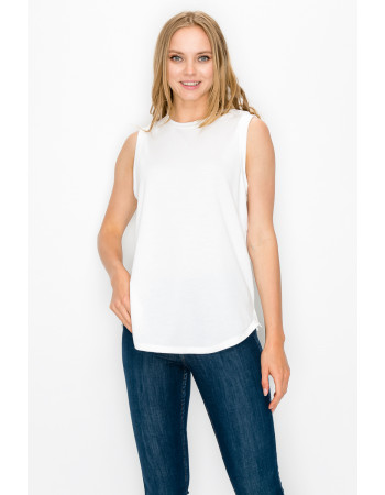 FRENCH TERRY SIDE SLIT TANK