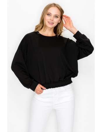 FRENCH TERRY ELASTIC BAND LONG SLEEVE