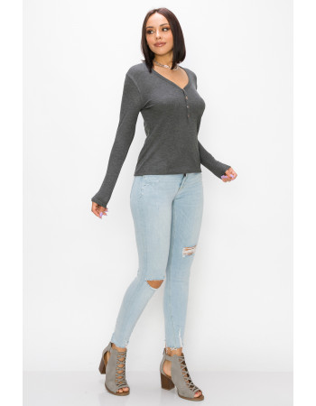 BABY THERMAL LONG SLEEVE HENLEY