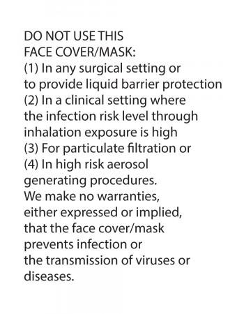 Kids Tie Dye Mask - Grey Black